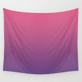Bright Pink Ultra Violet Gradient | Pantone Color of the year 2018 Wall Tapestry