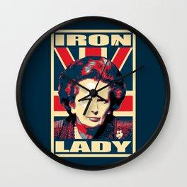 Margaret Thatcher Iron Lady Pop Art Wall Clock