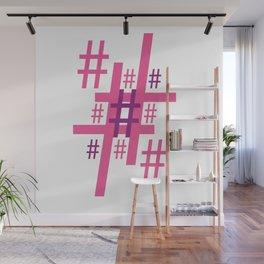Hashtag Wall Mural