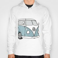 vw Hoodies featuring VW Camper by 1and9