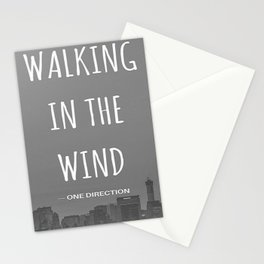 Walking In The Wind Stationery Cards