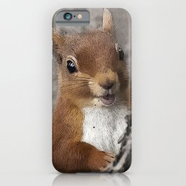 Woodland animals squirrel Smiling back at you iPhone Case