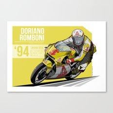 Doriano Romboni - 1994 Laguna Seca Canvas Print