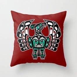 Northwest Pacific coast Haida art Thunderbird Throw Pillow