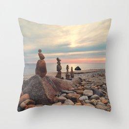 Rock Totems Throw Pillow