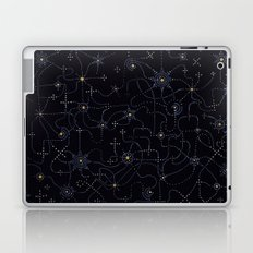 night sky with connected stars Laptop & iPad Skin