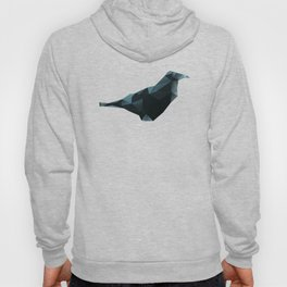 Blue and black origami crow Hoody