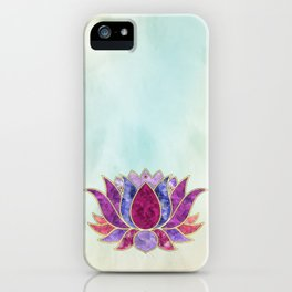 Pastel Watercolor Lotus Symbol iPhone Case