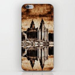 Liverpool Water front Skyline (Digital Art) iPhone Skin