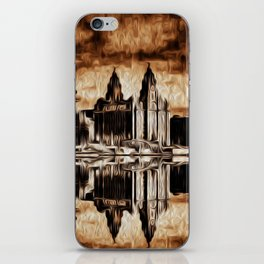 Liverpool Water front Skyline (Digital Art) iPhone Skin