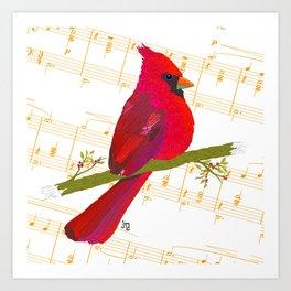 Cardinal's Gymnopédie Art Print