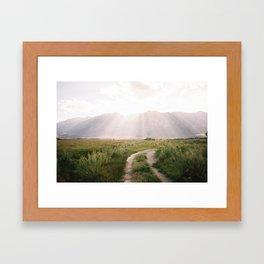 Sunset off of HWY 395  Framed Art Print