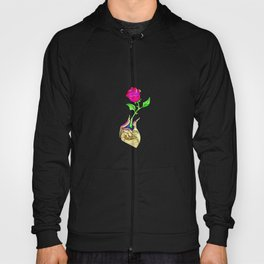 Beauty And The Beast Red Rose Flower Hoody