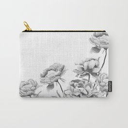 black and white peonies 2 Carry-All Pouch