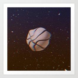 glitchy basketball Art Print