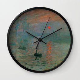 "Claude Monet ""Impression, Sunrise"" Wall Clock"