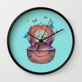Inner Space - colour option Wall Clock