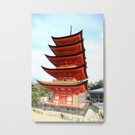 The pagoda in Miyajima Metal Print