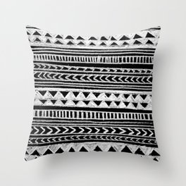 Triangle and Herring Bone Pattern Throw Pillow