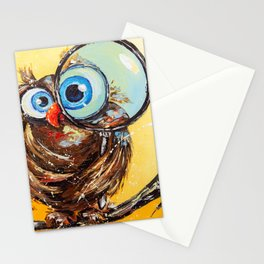 Inquisitive bird Stationery Cards