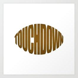 Touchdown Art Print