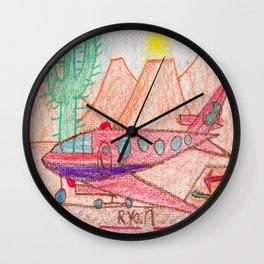 Desert Runway Wall Clock