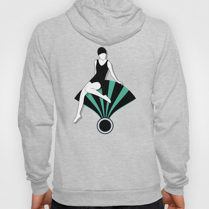 Art Deco Swimmers Hoody
