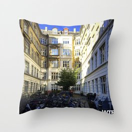 Urban nature, Vesterbro, Copenhagen Throw Pillow