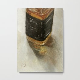 Alcohol Liquor Bottle Still Life Oil Painting Metal Print