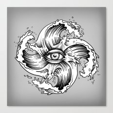 WITHIN THE EYE OF THE STORM Canvas Print