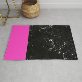 Pink Meets Black Marble #1 #decor #art #society6 Rug