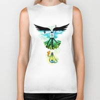 dream catcher Biker Tanks featuring Dream Catcher by Enkel Dika