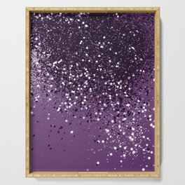 PURPLE Glitter Dream #1 #shiny #decor #art #society6 Serving Tray