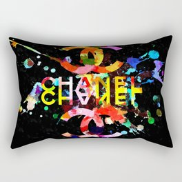 Fashion Blacky Black Rectangular Pillow