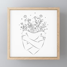 Self love blooming  Framed Mini Art Print