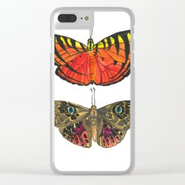 Vibrant Butterflies - red & yellow with tiger stripes, brown with blue eyes Clear iPhone Case