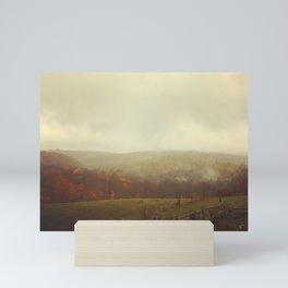 Misty Fall in Vermont Mini Art Print