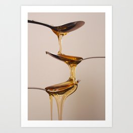 Spoons and Honey Art Print
