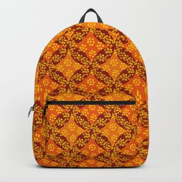 floral geometric pattern Backpack