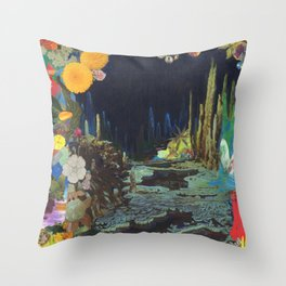 Cave Garden II Throw Pillow