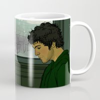 grantaire Mugs featuring Grantaire by rdjpwns