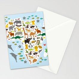 Animal Africa: parrot Hyena Rhinoceros Zebra Hippopotamus Crocodile Turtle Elephant Mamba snake Stationery Cards