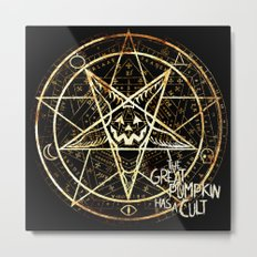 Cult of the Great Pumpkin: Pentagram Metal Print