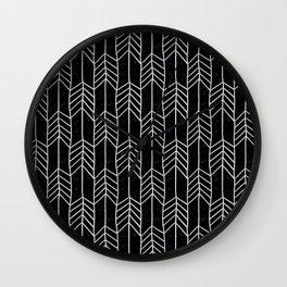 Arrows in Black Wall Clock
