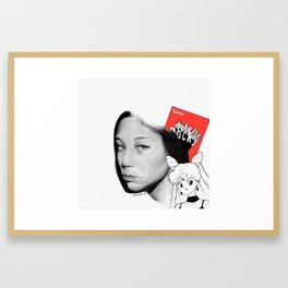 Kiko Mizuhara (Red Pocky ver.) Framed Art Print