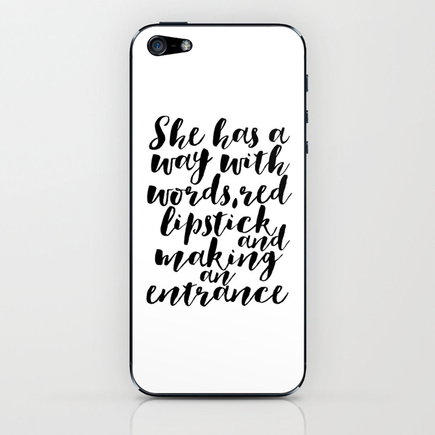 Makeup Quotes Makeup Decor Quotes Fashion Decor Gift For Her Women Gift Fashionista Boss Lady Office Iphone Skin By Milos955