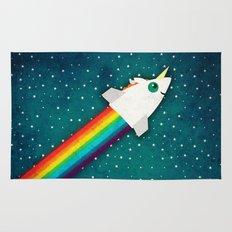 Unicorn Rainbow Rocket Rug