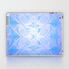 Blue and White Geometric Icy Lace Pattern Laptop & iPad Skin