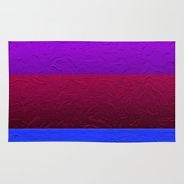 Blue Purple and Burgundy Passion Rug