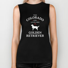 This Colorado Girl Loves Her Golden Retriever Dog Biker Tank